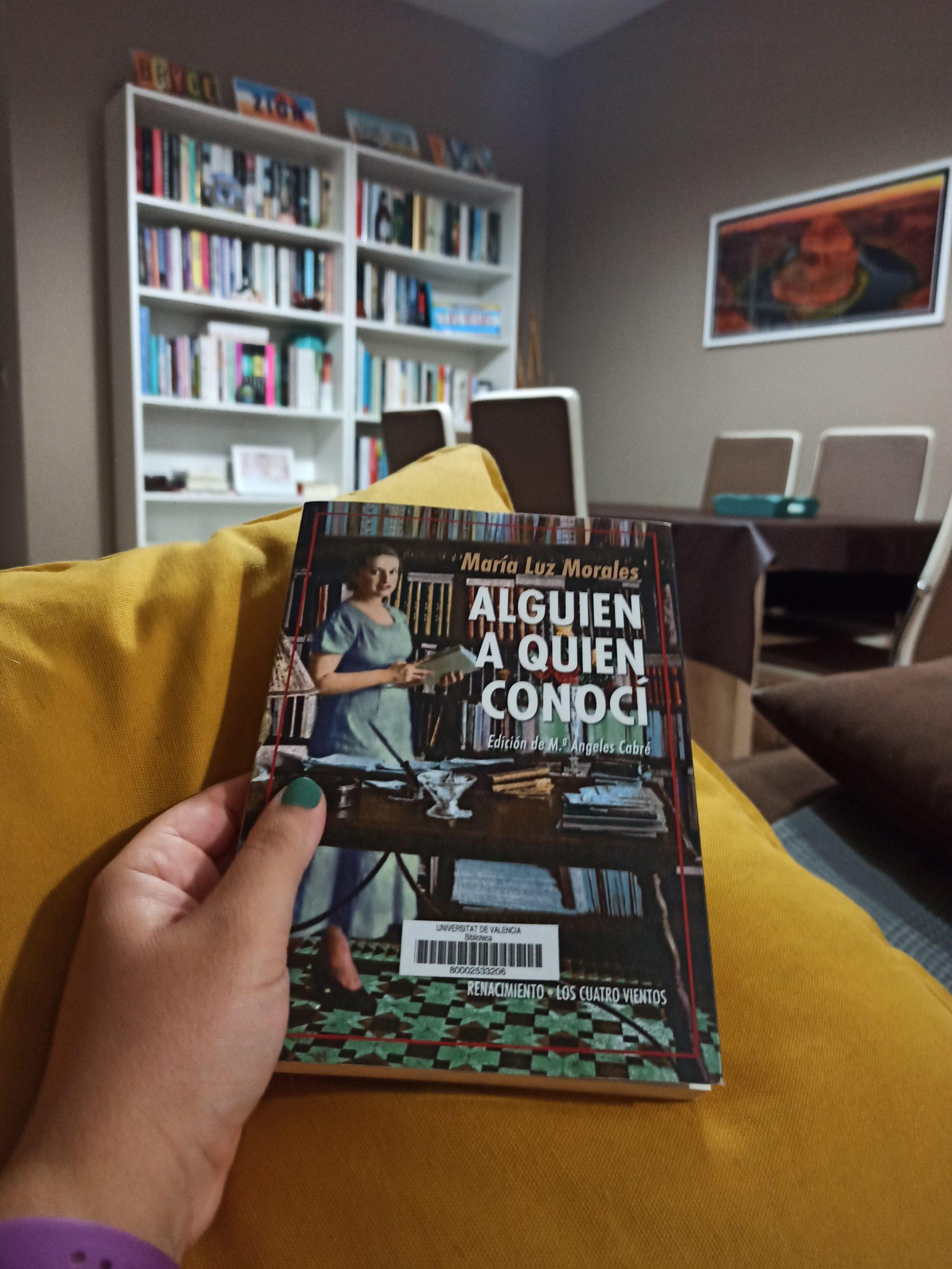 ALGUIEN A QUIEN CONOCÍ, de María Luz Morales.
